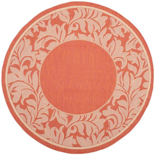 Safavieh Courtyard Rug - 5.3' x 5.3' - Polypropylene - Terracotta