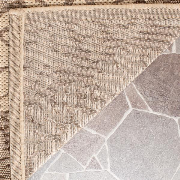 Safavieh Courtyard Rug - 4' x 5.6' - Polypropylene - Brown/Natural