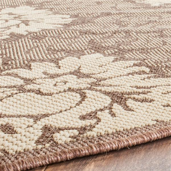 Safavieh Courtyard Rug - 5.3' x 5.3' - Polypropylene - Chocolate