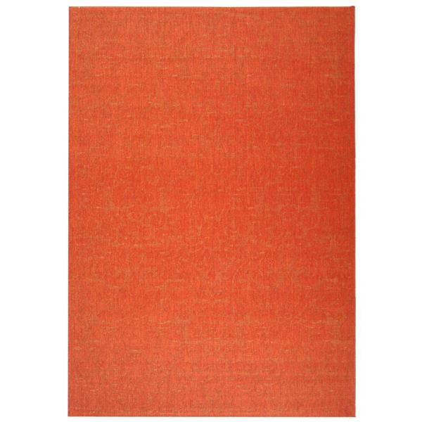 Safavieh Courtyard Damask Rug - 5.3' x 7.6' - Polypropylene - Red