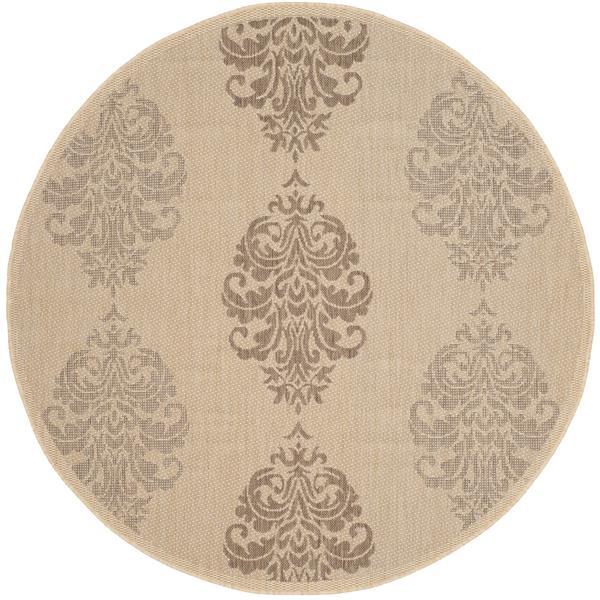 Safavieh Courtyard Rug - 5.3' x 5.3' - Polypropylene - Brown/Natural