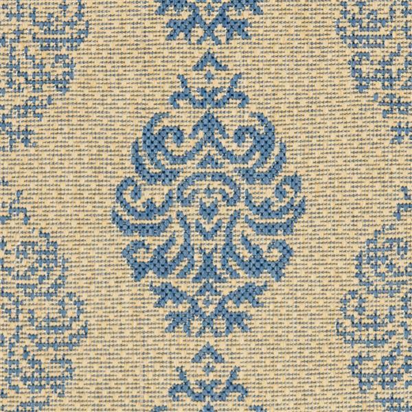 Safavieh Courtyard Rug - 2.3' x 6.6' - Polypropylene - Blue/Natural