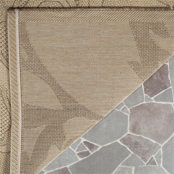 Safavieh Courtyard Rug - 4' x 5.6' - Polypropylene - Brown/Natural