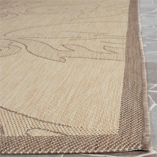 Safavieh Courtyard Rug - 5.3' x 7.6' - Polypropylene - Brown/Natural