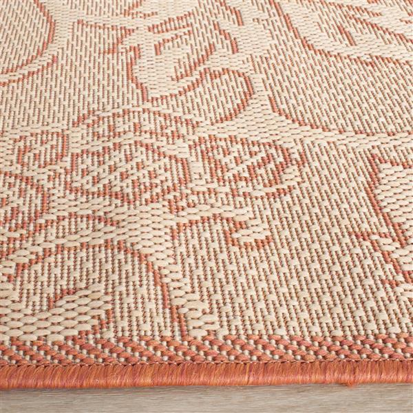 Safavieh Courtyard Floral Rug - 2.6' x 5' - Polypropylene - Natural
