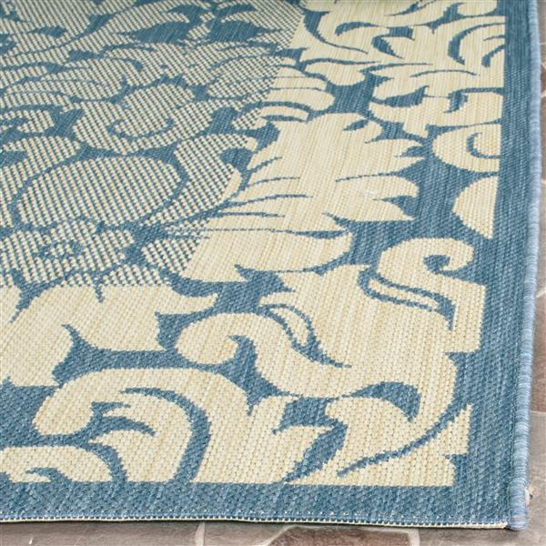Safavieh Courtyard Rug - 2.6' x 5' - Polypropylene - Blue/Natural