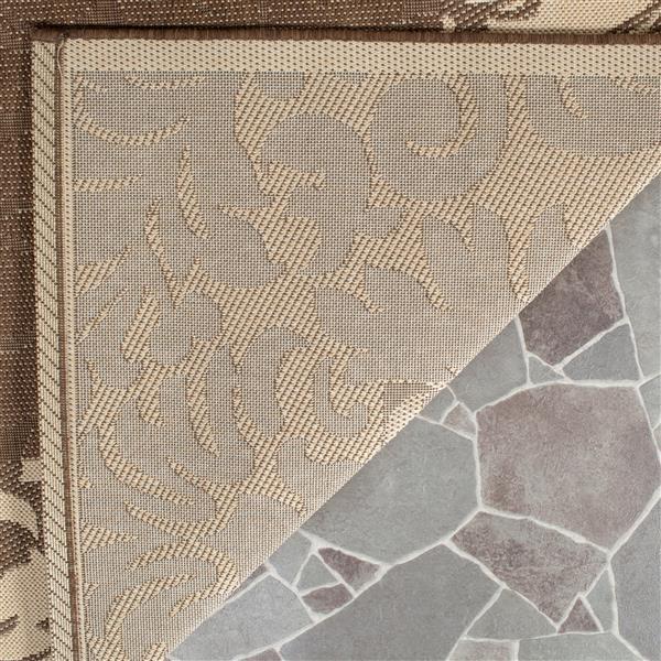 Safavieh Courtyard Rug - 2.3' x 6.6' - Polypropylene - Chocolate