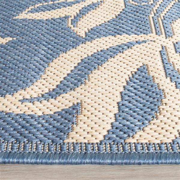 Safavieh Courtyard Rug - 2.6' x 5' - Polypropylene - Blue/Natural