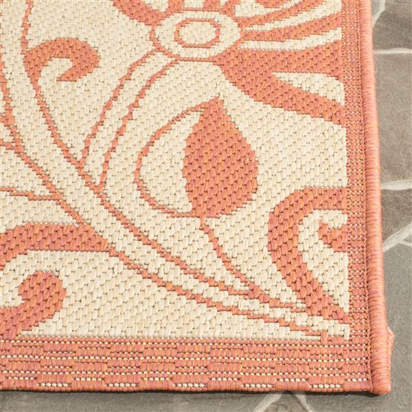 Safavieh Courtyard Rug - 2.6' x 5' - Polypropylene - Terracotta