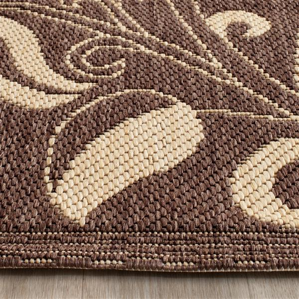 Safavieh Courtyard Rug - 2.3' x 10' - Polypropylene - Chocolate