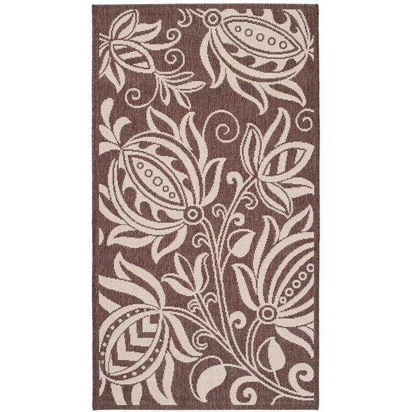 Safavieh Courtyard Rug - 4' x 5.6' - Polypropylene - Chocolate