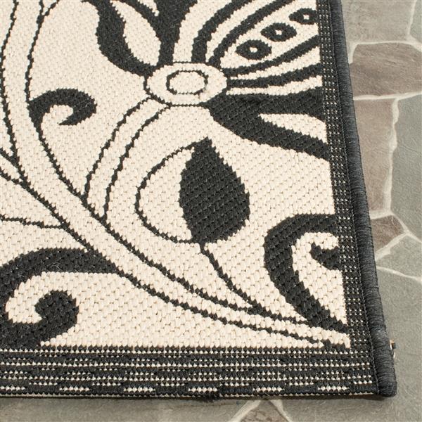 Safavieh Courtyard Floral Rug - 5.3' x 5.3' - Polypropylene - Sand
