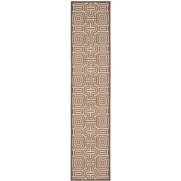 Safavieh Courtyard Rug - 2.3' x 10' - Polypropylene - Chocolate