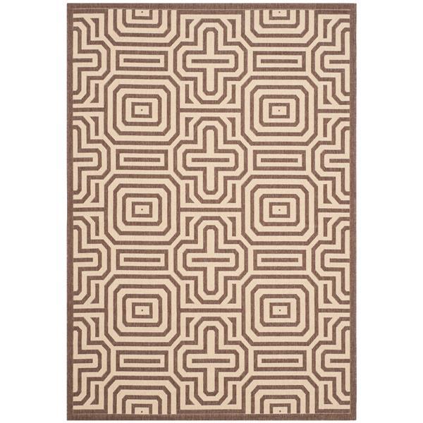 Safavieh Courtyard Rug - 5.3' x 7.6' - Polypropylene - Chocolate