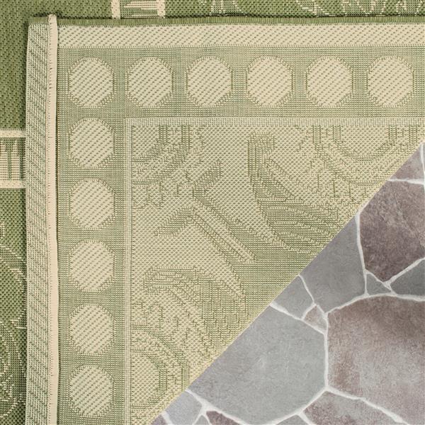 Safavieh Courtyard Rug - 5.3' x 7.6' - Polypropylene - Olive/Natural