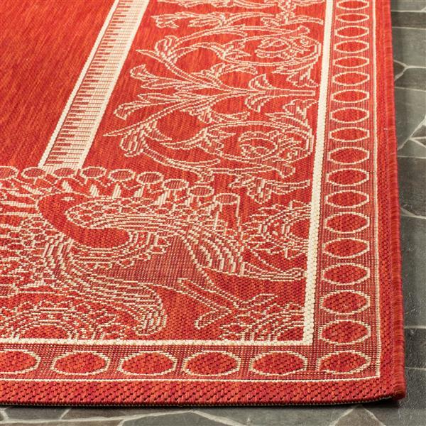 Safavieh Courtyard Rug - 2.3' x 10' - Polypropylene - Red/Natural