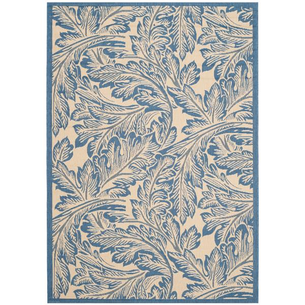 Safavieh Courtyard Rug - 5.3' x 7.6' - Polypropylene - Blue/Natural