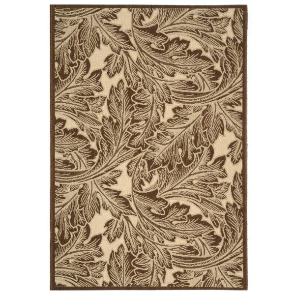 Safavieh Courtyard Rug - 2.6' x 5' - Polypropylene - Brown/Natural