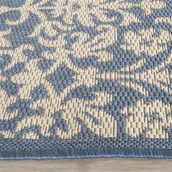 Safavieh Courtyard Rug - 4' x 5.6' - Polypropylene - Blue/Natural