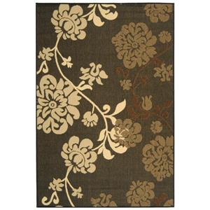 Safavieh Courtyard Rug - 5.3' x 7.6' - Polypropylene - Black/Brown