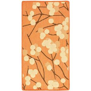 Safavieh Courtyard Rug - 2.6' x 5' - Polypropylene - Terracotta/Brown