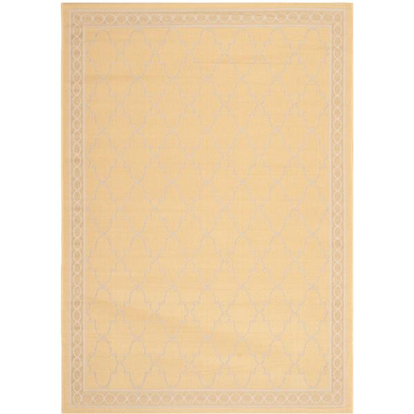 Safavieh Courtyard Rug - 5.3' x 7.6' - Polypropylene - Yellow/Beige