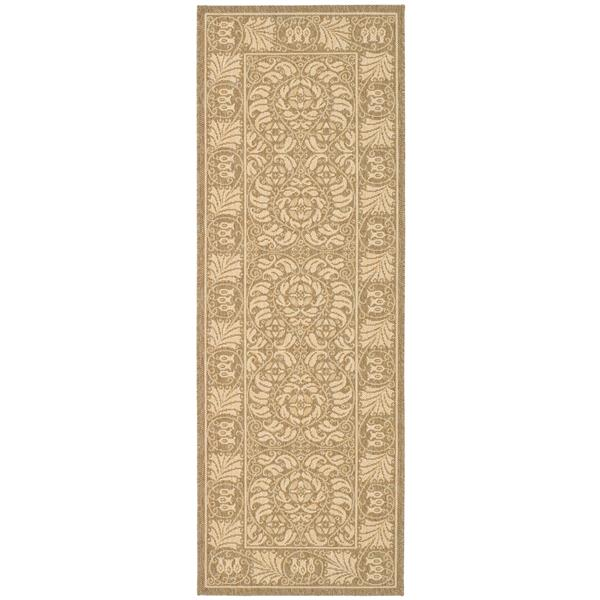Safavieh Courtyard Rug - 2.3' x 6.6' - Polypropylene - Coffee/Sand