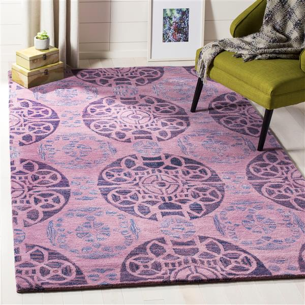 Safavieh Wyndham Geometric Rug - 8.8' x 12' - Wool - Purple