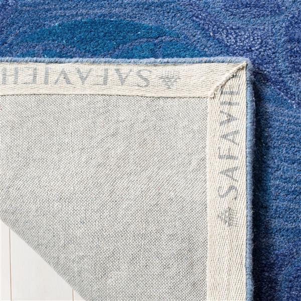 Safavieh Wyndham Geometric Rug - 8.8' x 8.8' - Wool - Blue