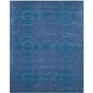 Safavieh Wyndham Geometric Rug - 8.8' x 8.8' - Wool - Blue