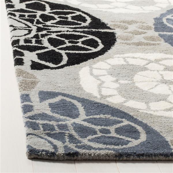 Safavieh Wyndham Geometric Rug - 8.8' x 12' - Wool - Gray