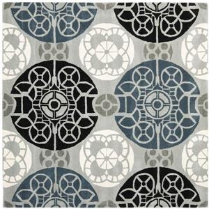 Safavieh Wyndham Geometric Rug - 8.8' x 12' - Wool - Gray
