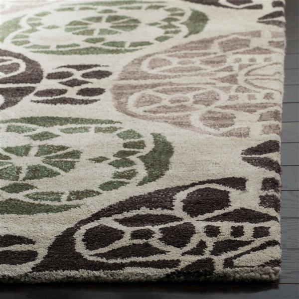 Safavieh Wyndham Geometric Rug - 8.8' x 12' - Wool - Ivory