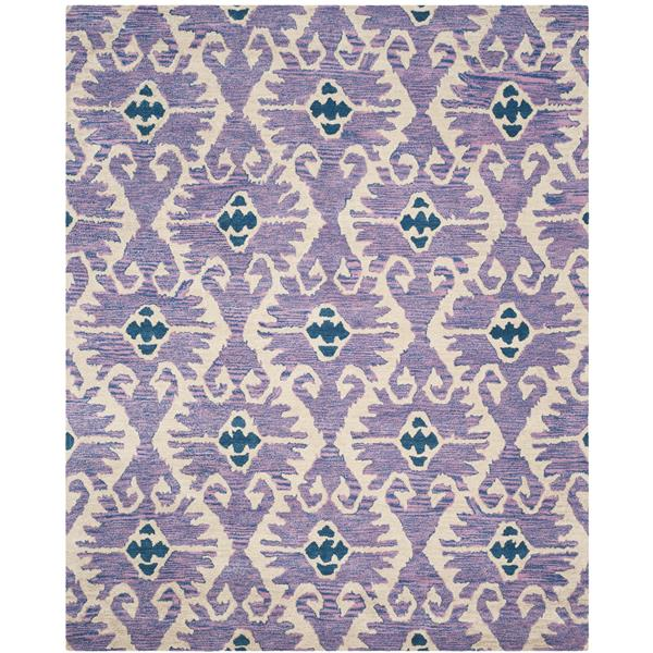 Safavieh Wyndham Damask Rug - 8.8' x 8.8' - Wool - Purple