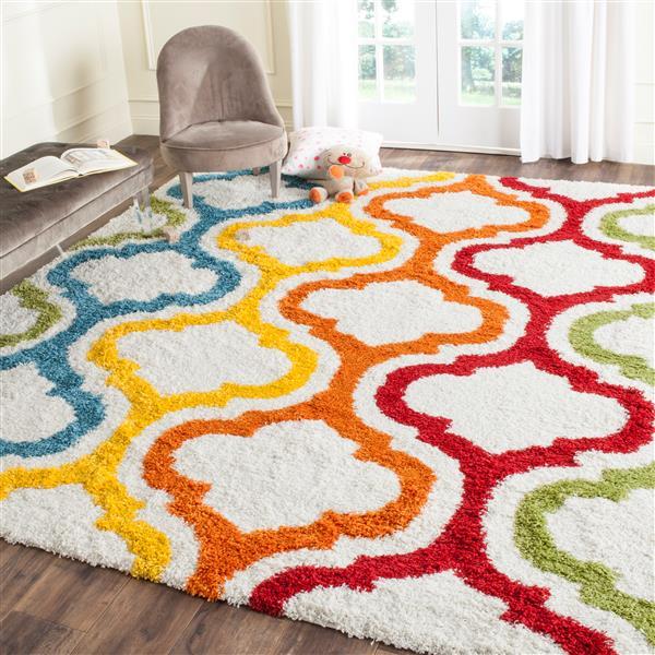 Safavieh Shag Abstract Rug - 3' x 5' - Polypropylene - Multicolour