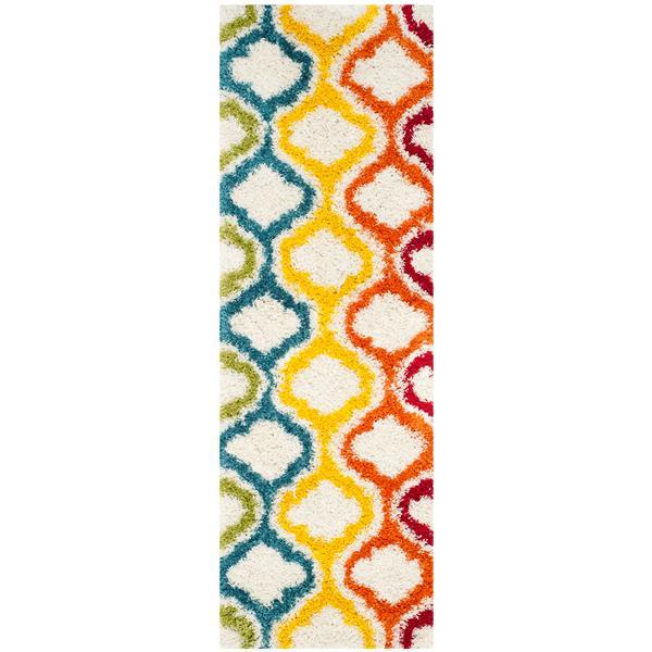 Safavieh Shag Trellis Rug - 2.3' x 7' - Polypropylene - Multicolour
