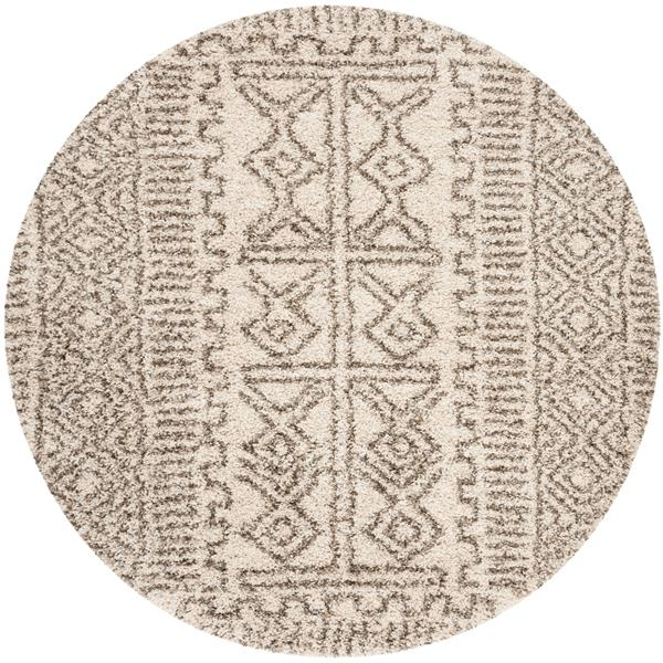 Safavieh Hudson Trellis Rug - 5' x 5' - Polypropylene - Ivory