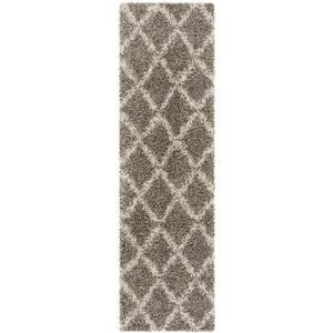 Safavieh Hudson Trellis Rug - 2.3' x 8' - Polypropylene - Gray