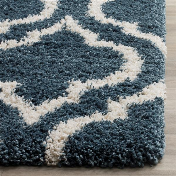 Safavieh Hudson Trellis Rug - 4' x 6' - Polypropylene - Blue