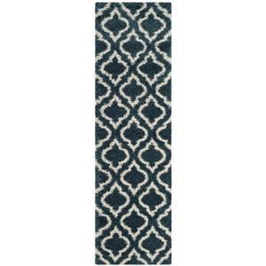 Safavieh Hudson Trellis Rug - 2.3' x 8' - Polypropylene - Blue