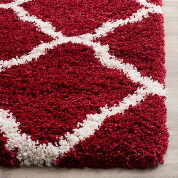 Safavieh Hudson Trellis Rug - 4' x 6' - Polypropylene - Red