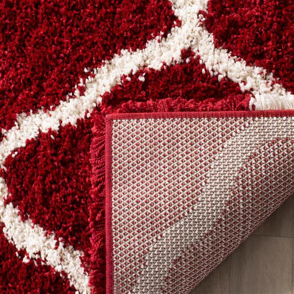 Safavieh Hudson Trellis Rug - 3' x 5' - Polypropylene - Red