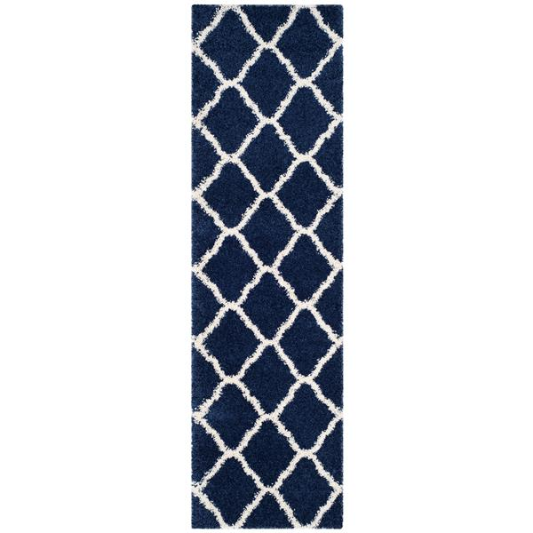 Safavieh Hudson Trellis Rug - 2.3' x 8' - Polypropylene - Navy Blue