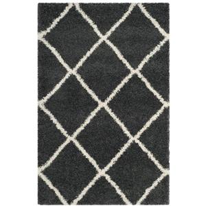 Hudson Trellis Rug - 4' x 6' - Polypropylene - Dark Gray