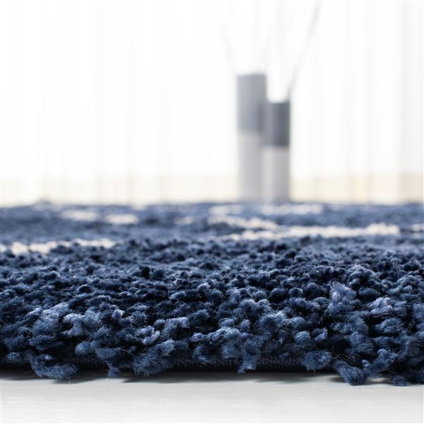 Safavieh Hudson Trellis Rug - 5' x 5' - Polypropylene - Navy Blue