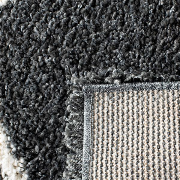 Safavieh Hudson Trellis Rug - 2.3' x 8' - Polypropylene - Dark Gray