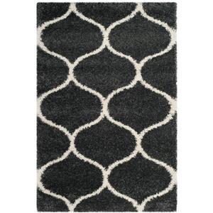 Safavieh Hudson Trellis Rug - 4' x 6' - Polypropylene - Dark Gray