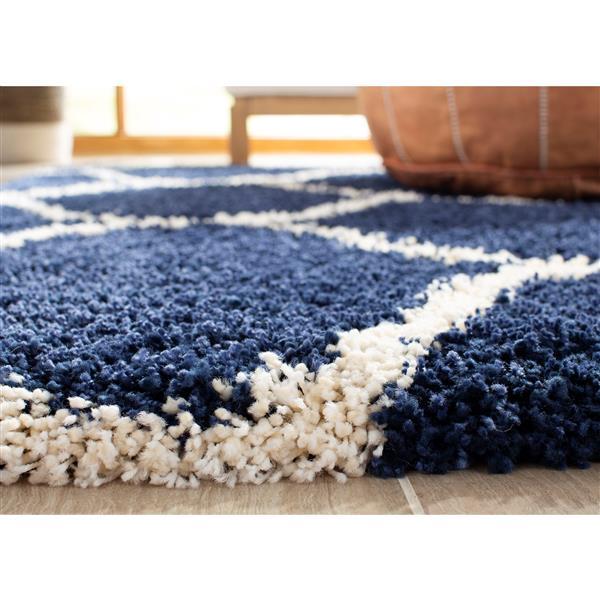 Safavieh Hudson Trellis Rug - 4' x 6' - Polypropylene - Dark Blue