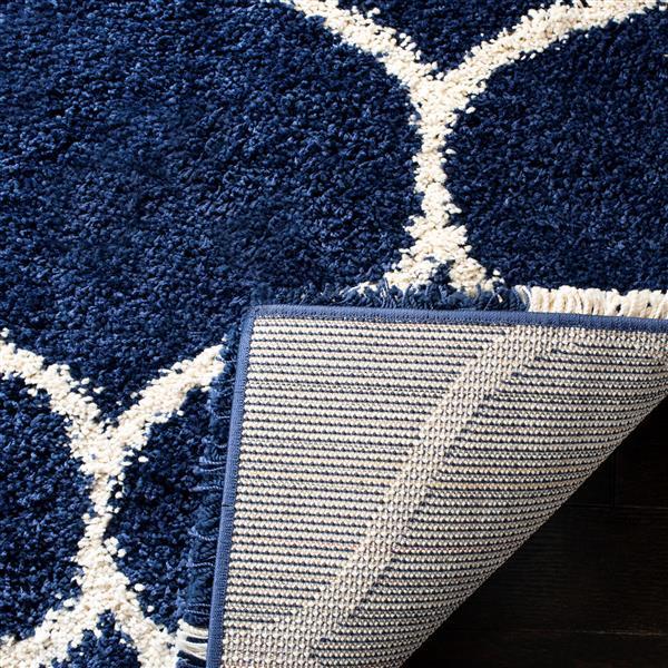 Safavieh Hudson Trellis Rug - 3' x 5' - Polypropylene - Dark Blue