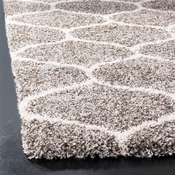 Safavieh Hudson Trellis Rug - 4' x 6' - Polypropylene - Gray